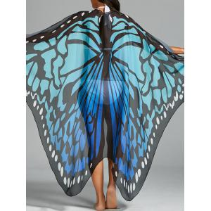 Butterfly Wing Beach Cover Up - Blue - One Size