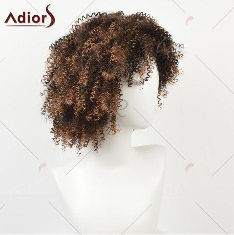 Online Shaggy Short Afro Kinky Curly Colormix Synthetic Wig - COLORMIX  Mobile