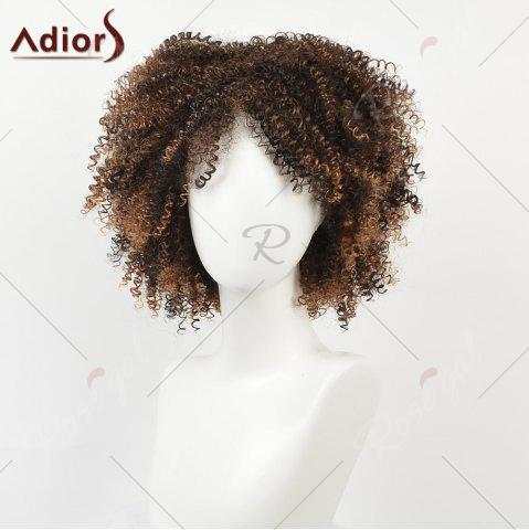 Cheap Shaggy Short Afro Kinky Curly Colormix Synthetic Wig - COLORMIX  Mobile