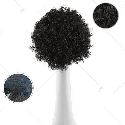 Shop Shaggy Short Afro Curly Synthetic Wig - BLACK  Mobile