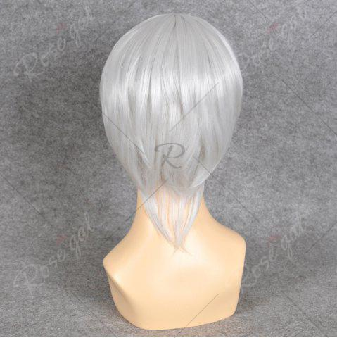 Shops Neon Genesis Evangelion Cosplay Side Bang Short Straight Synthetic Wig - SILVER WHITE  Mobile