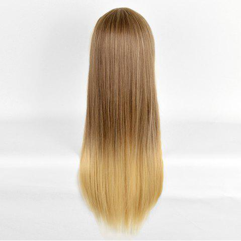 Discount Side Bang Long Straight Ombre Synthetic Wig - COLORMIX  Mobile