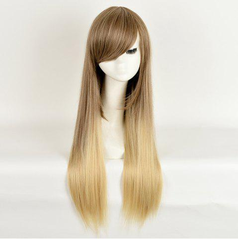 Shops Side Bang Long Straight Ombre Synthetic Wig - COLORMIX  Mobile