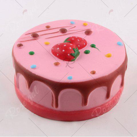 Shop Strawberry Mousse Cake Simulation Food Squishy Toy - COLORFUL  Mobile