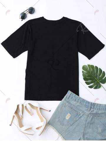 Discount Pocket Graphic Tee - ONE SIZE BLACK Mobile