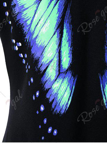 Sale Butterfly Printed Short Sleeve Tee - 2XL MINT Mobile