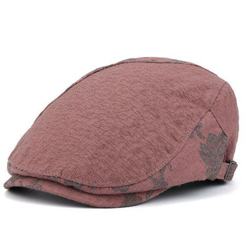 Chic Adjustable Leaf Pattern Embellish Newsboy Cap PINK