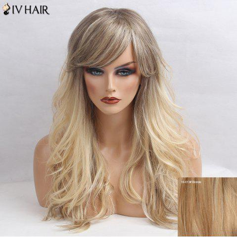 Best Siv Hair Long Side Bang Shaggy Wavy Colormix Human Hair Wig - BLONDE  Mobile