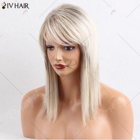 Outfit Siv Hair Medium Side Bang Straight Colormix Human Hair Wig - COLORMIX  Mobile