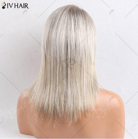 Store Siv Hair Medium Side Bang Straight Colormix Human Hair Wig - COLORMIX  Mobile