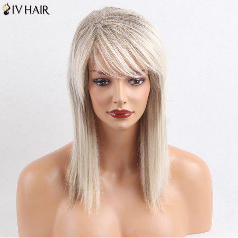 Cheap Siv Hair Medium Side Bang Straight Colormix Human Hair Wig - COLORMIX  Mobile