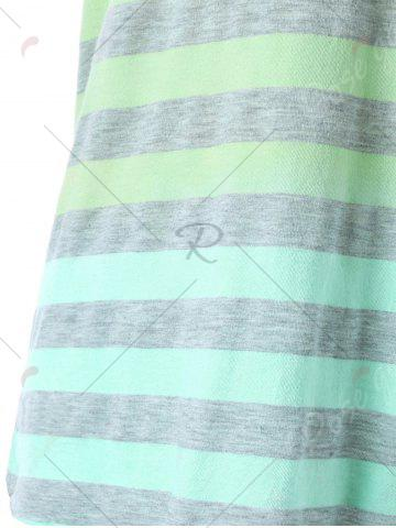 Chic Sleeveless Ombre Striped T-shirt - M YELLOW Mobile