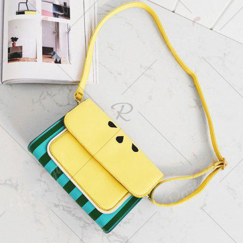 Outfit Watermelon Print Flap Crossbody Bag - YELLOW  Mobile
