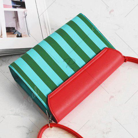 Latest Watermelon Print Flap Crossbody Bag - RED  Mobile