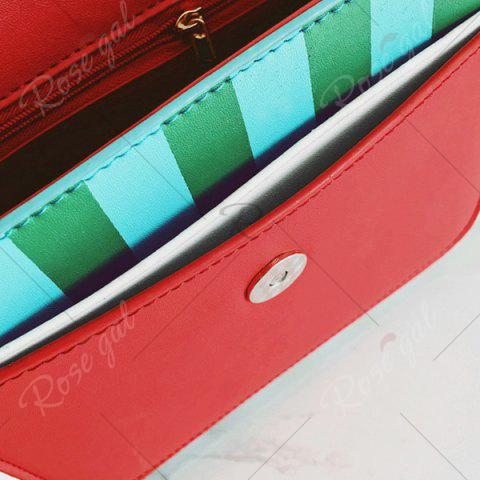 Shops Watermelon Print Flap Crossbody Bag - RED  Mobile