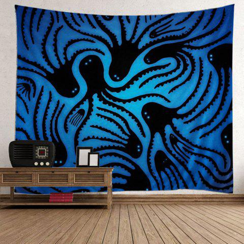 Home Decor Octopus Wall Hanging Tapestry Bleu Largeur51pouces*Longeur59pouces