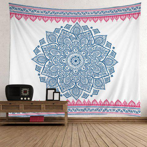 Fancy Home Decor Bohemian Mandala Floral Wall Tapestry - 200*150CM LIGHT BLUE Mobile