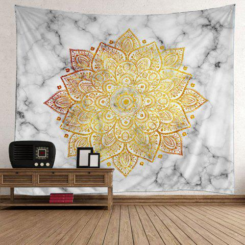 Affordable Bohemian Wall Hanging Flower Print Tapestry - 200*150CM YELLOW Mobile