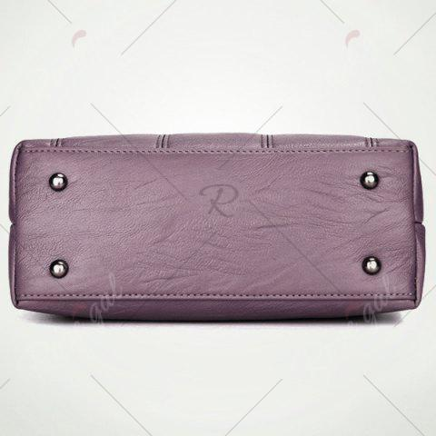 Cheap Stitching Faux Leather Crossbody Bag - PURPLE  Mobile