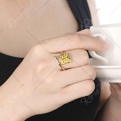 Latest Butterfly Shaped Cuff Ring - GOLDEN  Mobile