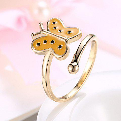 Chic Butterfly Shaped Cuff Ring GOLDEN