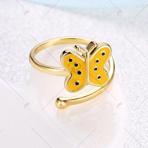 Best Butterfly Shaped Cuff Ring - GOLDEN  Mobile