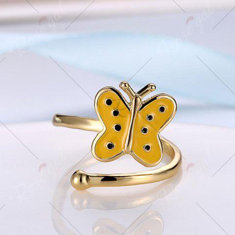 Unique Butterfly Shaped Cuff Ring - GOLDEN  Mobile