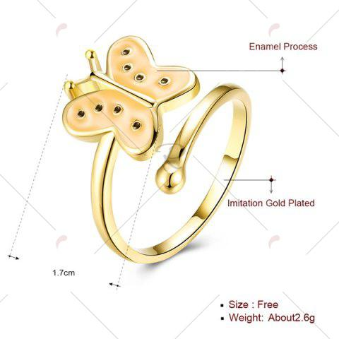 Sale Butterfly Shaped Cuff Ring - GOLDEN  Mobile
