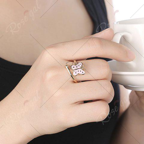 Shop Butterfly Shaped Cuff Ring - PINK  Mobile