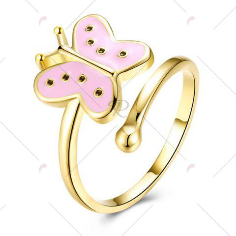 Unique Butterfly Shaped Cuff Ring - PINK  Mobile