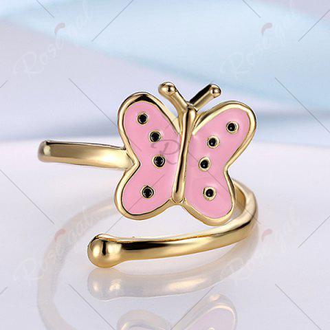 Best Butterfly Shaped Cuff Ring - PINK  Mobile