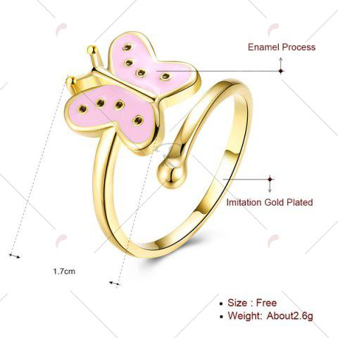 Online Butterfly Shaped Cuff Ring - PINK  Mobile