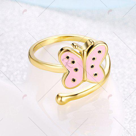 Shops Butterfly Shaped Cuff Ring - PINK  Mobile