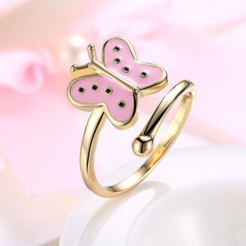 Latest Butterfly Shaped Cuff Ring - PINK  Mobile