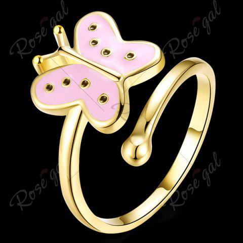 Sale Butterfly Shaped Cuff Ring - PINK  Mobile