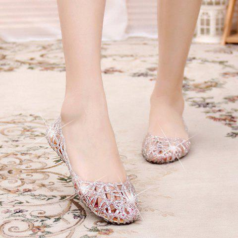 Unique Flat Heel Hollow Out Sandals