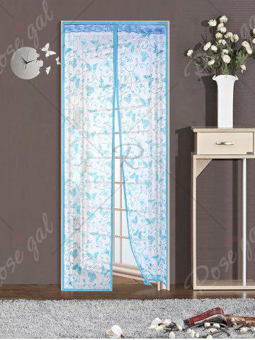 Affordable Anti Mosquito Mesh Magnetic Curtain Door Sreen - 90*210CM LAKE BLUE Mobile