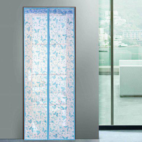 Anti Mosquito Mesh Magnetic Curtain Door Sreen - Lake Blue - 100*210cm