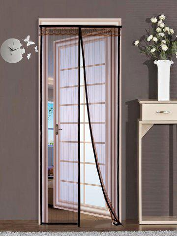Chic Insect prevention Mesh Magnetic Door Curtain - 90*210CM COFFEE Mobile