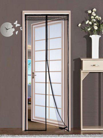 Store Door Screen Anti Mosquito Mesh Magnetic Curtain - 90*210CM BLACK Mobile