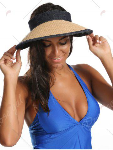 Latest Wide Brim Bowknot Band Open Top Straw Hat - LIGHT COFFEE  Mobile
