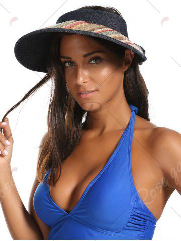 Shops Wide Brim Bowknot Band Open Top Straw Hat - LIGHT COFFEE  Mobile