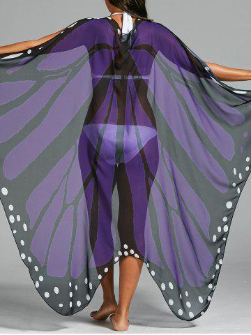 New Butterfly Wing Beach Cover Up - ONE SIZE LIGHT PURPLE Mobile