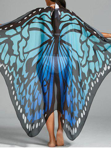 Butterfly Wing Beach Cover Up Bleu TAILLE MOYENNE