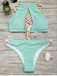 Braided Straps Criss Cross Bikini Set