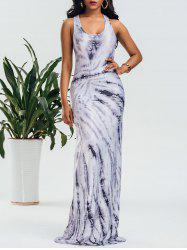Racerback Tie Dye Maxi Dress