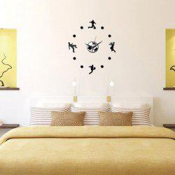 Living Room DIY Football Personality Clock Wall Decal -