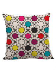 Linen Geometric Pattern Pillow Case - MULTICOLOR
