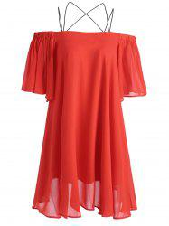 Chiffon Short Spaghetti Strap Dress -