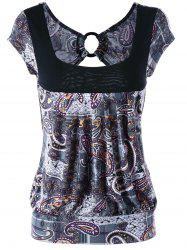 Open Back Paisley T-shirt